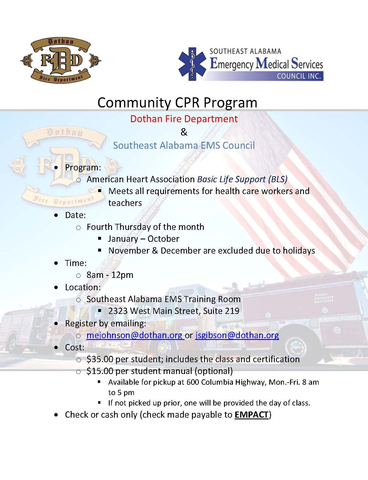 CPR Flyer 2018